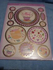 Hunkydory adorable mesurables vous bake me happy gilded toppers feuille & 2 cartes A4