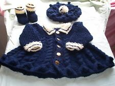 Baby knitting pattern, warm coat, hat, boots, Chunky wool. 0-3,3-6,6-12 months.