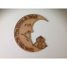 Love You To The Moon mdf quote craft wooden craft sign wood sign A155