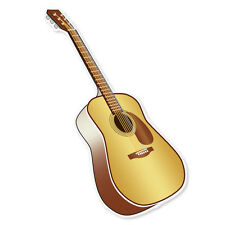 """Acoustic Guitar musical instrument band sticker 3"""" x 6"""""""
