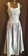 Women's Vintage Spiegel Together Cotton Chambray Fitted Dress 4 Petite Big Skirt