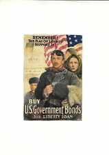 1919 Remember the Flag of  Griswold Tyng Mini Poster WW1 Liberty Loans War Bonds