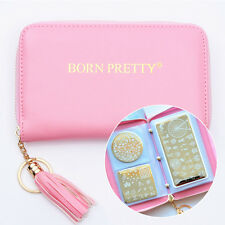 BORN PRETTY 24 Steckplatz Stamping Platte Schablonen Tasche Case Holder DIY