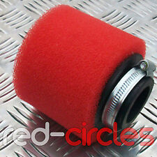RED 44mm PIT DIRT BIKE PERFORMANCE DOUBLE FOAM AIR FILTER 50cc 110cc PITBIKE