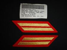 2 USMC 8-Year Service STRIPES Gold-On-Scarlet (WoMen) With Label Dated 12/1990