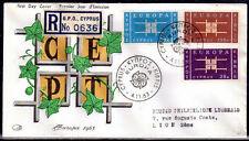 EUROPA CEPT FDC 1963 CHYPRE 2 - COTE 30euro