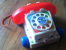 Fisher Price Chatter Phone Telephone With Moving Eyes Vintage 1985 USA