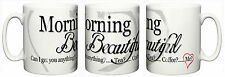 """Morning Beautiful"" Mug Birthday Girlfriend Wife Christmas Stocking Filler"