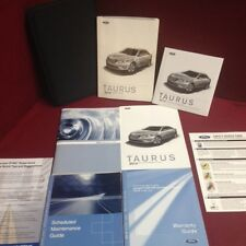 2010 Ford Taurus Owners Manual with maintenance and warranty guide and case