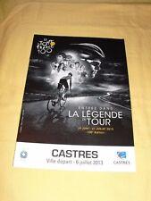 """TOUR DE FRANCE 2013 Flyer Dépliant """"Castres ville Départ"""" 6 pages"""