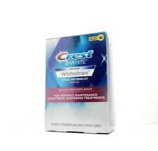 CREST 3D WHITE NO SLIP MONTHLY WHITENING BOOST 12 TREATMENTS/24 STRIPS NEW