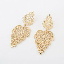 New Fashion Bohemia Retro Style Plated Carved Leaves Dangling Earrings