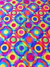 GEO CIRCLE COLORED COTTON FABRIC/SEWING CRAFT SUPPLIES/HOME DECOR/QUILTING