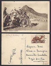 POSTA MILITARE AOI 1936 Cartolina da PM 128E a Guastalla (FS8)