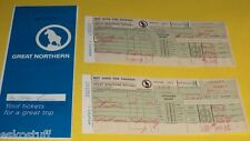 Great Northern Empire Builder Ticket Folder with ticket stub 1969 trip See!