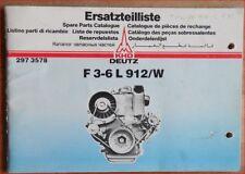Deutz Ersatzteilliste F 3-6 L 912 / W Motor