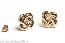 9ct Gold Knot Stud earrings Gift Boxed Made in UK