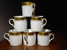 """6 Tasses Litron """"Acrobates"""" 6cmx6cm Porcelaine de Paris 19ème"""