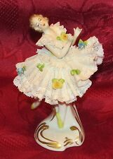 PORCELAINE DE SAXE DANSEUSE BALLERINE EN TUTU  lady dancer german figurin