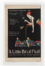 """A LITTLE BIT OF FLUFF"": Theatre advertising lettercard (C9128)"