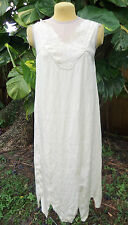 EMBROIDERED FLAPPER LINGERIE NIGHTGOWN c.1920S AS-IS FOR PROJECT