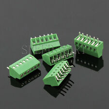 5 pcs 6 poles/6 Pin 2.54mm 0.1'' PCB Universal Screw Terminal Block Connector