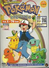 DVD Pokemon Indigo League Vol.1-79 End English Version Complete Set