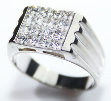 Men's Stainless Steel 3.3MM Cubic Zirconia Ring. Stamped 316. Will Never Tarnish
