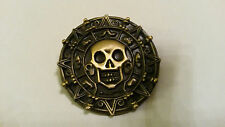 PIRATES of the CARIBBEAN - Pirate Coin PIN SKULL in Cursed Aztec Disney pin