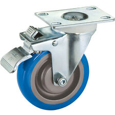 "4"" Polyurethane Casters, Total-Lock Swivel (Plate Mount)"