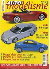 AUTO MODELISME n°73 09/2002 BURAGO MAC LAREN M8 DODGE VIPER 2003