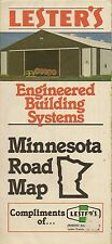 1983 LESTER'S Road Map MINNESOTA Farm & Livestock Buildings Hogs Cattle Poultry