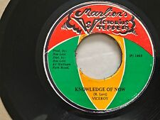 "VICEROYS 7"" vinyl ❂ Knowledge Of Now ❂ JA 1983 marlion's victorious steppers"