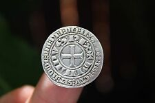 French silver coin, Philipus Rex III, AR Gros Tournoise, EF, 1270-1285AD, France