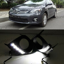 2x LED White Daytime Running Light DRL Fog Kit Toyota Corolla Altis 2010-2013