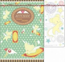 Card Captor Sakura notebook and sticker set CLAMP official anime