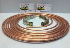 brake pipe copper line 25ft joiner male female nuts ends tubing joint set 3/16