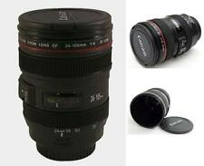 Camera Lens Cup 12oz EF 24-105mm Coffee Tea Travel Mug Thermos Stainless Steel