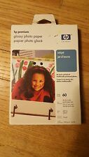 HP Premium Glossy Photo Paper (Inkjet) 4 x 6 - 60 Sheets (New and Unopened)