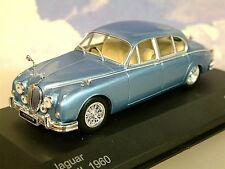 SUPERB WHITEBOX DIECAST 1/43 1960 JAGUAR MK2 MKII IN LIGHT METALLIC BLUE WB201