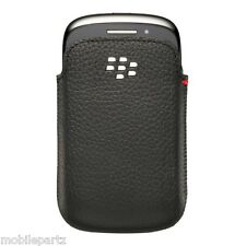 Genuine BlackBerry 9320 9310 9220 Black Leather Pocket Pouch Case ACC-48907-201