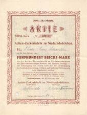 Actien Zuckerfabrik Niederndodeleben  1929
