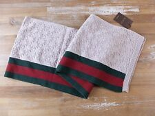 auth GUCCI wool scarf with signature web - NWT