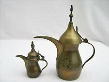 2 brass coffee jugs tea pot  Dallah  Islamic  Arabic  Middle East UAE   Vintage
