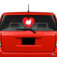 Love American Eskimo Windshield Sticker Vinyl Auto Window eskie