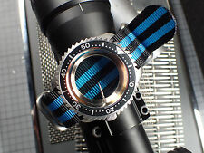 XULU 5 RINGS BALISTIC NYLON STRAP THE.BLUEBACK FOR MOD.SEIKO OR BOSTOK ST-23