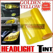 Yellow Headlights Tail Lights Tint Vinyl Film Car Van Tinted Wrap 30cm x 60cm