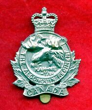 "WW2 Canada ""Algonquin Regiment"" Cap Badge"