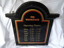 The Woolpack Pub Hotel Opening Times Sign Wall Hanging Outdoor Mancave