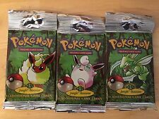 Pokemon Jungle Unlimited Booster Pack  NOT WEIGHED Factory Sealed LONG PACK